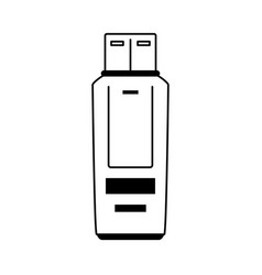 Usb drive icon image vector
