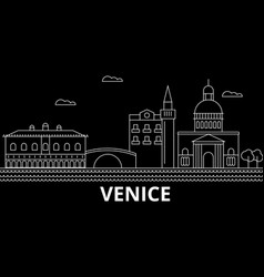 venice silhouette skyline italy - venice vector image