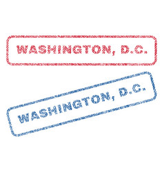 Washington dc textile stamps vector