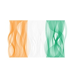 Wave line flag of Ivory Coast vector