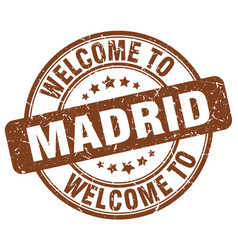 Welcome to madrid vector