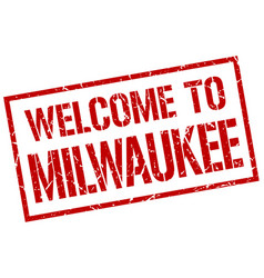 Welcome to milwaukee stamp vector
