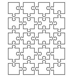 White puzzle 4 vector