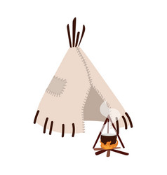 Wigwam wickiup or wetu traditional tribal vector