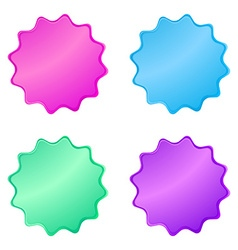 0220multicolored glossy stickers in the shape of a vector image vector image