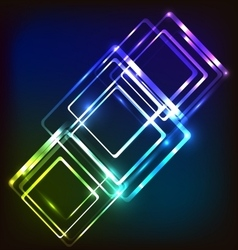 Abstract glowing background with rounded vector image vector image