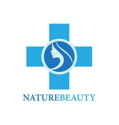 beauty care logo vector image