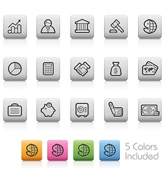 Business-and-Finance Outine-Button vector image vector image