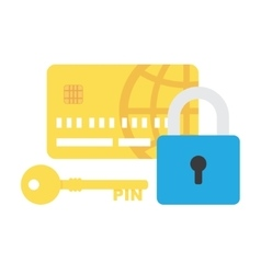 Credit Card Security icon vector image vector image