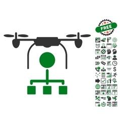 Drone Distribution Icon With Bonus vector image vector image