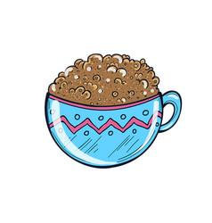 hand drawn of coffee cup milkshake vector image