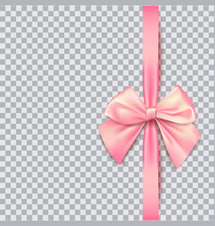 pink bow for packing gifts realistic vector image