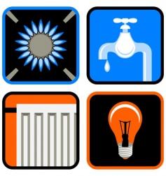 Public utilities icon set vector