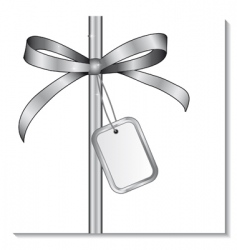 silver bow vector image vector image
