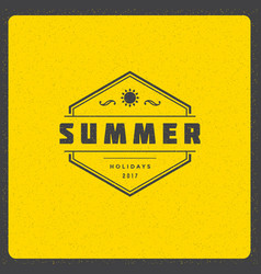 summer holidays poster design on textured vector image vector image