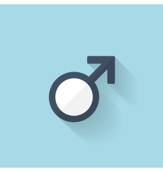 Flat web internet icon Male symbol vector image