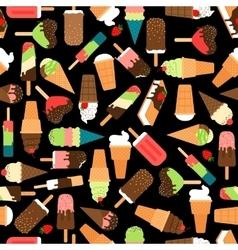 Ice cream seamless pattern vector image