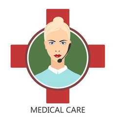 medical user support vector image vector image