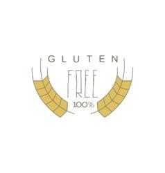 No Gluten Product Label vector image vector image