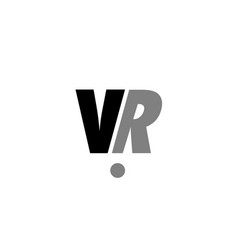vr v r black white grey alphabet letter logo icon vector image vector image