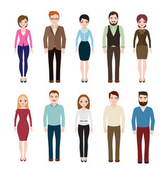 young businesswoman and businessman isolated on vector image