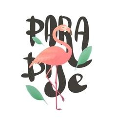 a pink flamingo vector image vector image