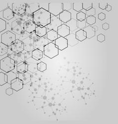 abstract hexagon background modern technology vector image vector image