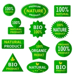 Green eco labels vector image