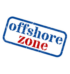 offshore zone stamp grunge sign vector image