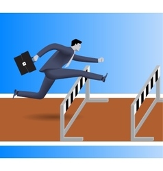 Over the obstacles business concept vector image vector image