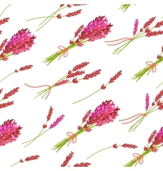 Seamless pattern with hand drawn floral elements- vector image