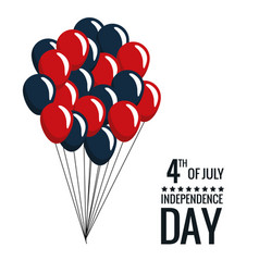 united states independence day celebrate balloons vector image
