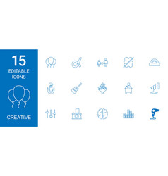 15 creative icons vector