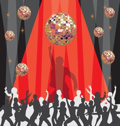 1970 Disco Party Invitation vector image