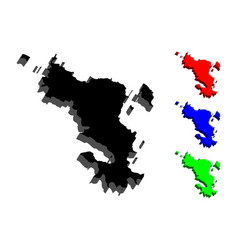 3d map of mayotte vector image
