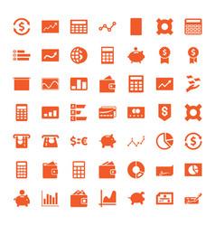 49 economy icons vector image