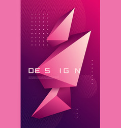 abstract geometric background with 3d vector image