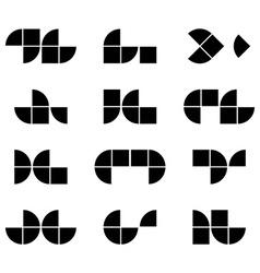 Abstract geometric simplistic symbols set abstract vector