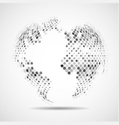 abstract globe earth of colorful grey vector image