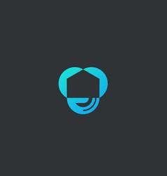 abstract house hand logo icon design modern vector image