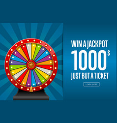 Advertising page promoting lottery vector