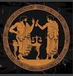 ancient greek people vector image
