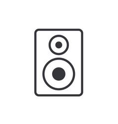 Audio speaker outline icon in flat design style vector