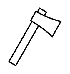 Axe thin line icon vector