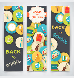 back to school flat icons vector image