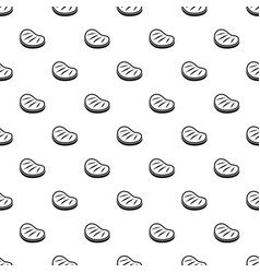 Beef steak pattern vector