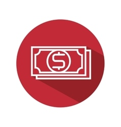 Bill cash money isolated icon vector