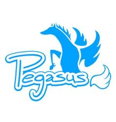 Blue pegasus symbol vector