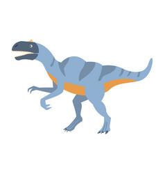 Blue velociraptor dinosaur of jurassic period vector