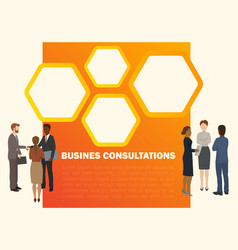 business consultations banner vector image